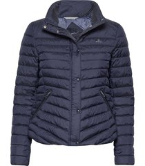 light down jacket gevoerd jack blauw gant