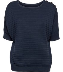 sweaters t-shirts & tops knitted t-shirts/tops blå esprit casual
