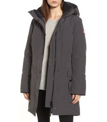 women's canada goose kinley insulated parka, size small (4-6) - grey