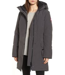 women's canada goose kinley insulated parka, size x-small - grey