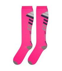 meia de compressáo feminina esportiva ciclismo duck meias