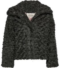 amandine jacket outerwear faux fur grijs odd molly