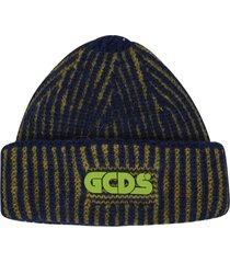 gcds woven logo beanie