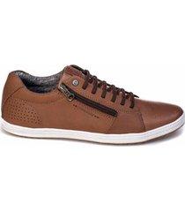 sapatênis tchwm shoes couro com zíper - masculino