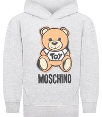 moschino grey sweatshirt for kids with teddy bear
