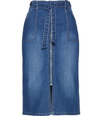 gonna di jeans con cintura da annodare (blu) - bpc selection