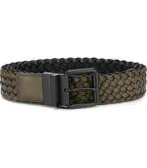 bottega veneta woven belt - brown