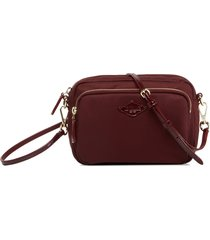 mz wallace small gramercy crossbody bag - red