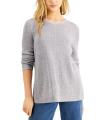 eileen fisher crewneck flat saddle pullover sweater