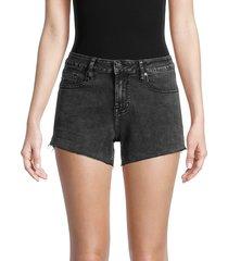 vigoss women's marley mid-rise cut-off shorts - washed black - size 31 (10)