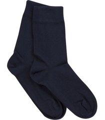 dubbelpak katoenen sokken voor haar & hem, marineblauw 45/46