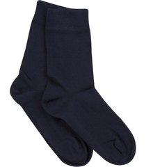 katoenen sokken uit biologisch katoen in een dubbelpak, marineblauw 45/46