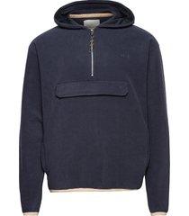 edgar fleece jacket hoodie trui blauw fram