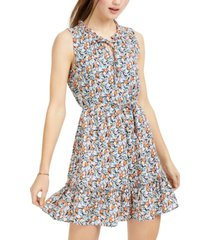 bcx juniors' ditsy-print dress
