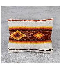 wool cosmetic bag, 'inca inspiration' (peru)