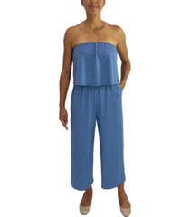 be bop juniors' strapless popover jumpsuit