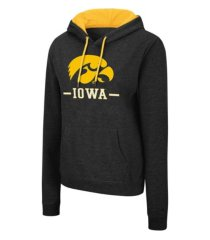colosseum iowa hawkeyes women's genius hooded sweatshirt