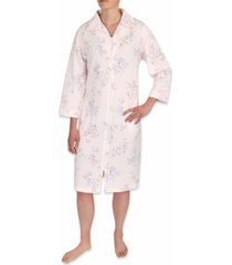 miss elaine floral-print zipper robe