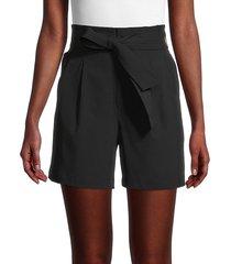 calvin klein women's belted paperbag shorts - black - size xs