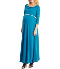 women's everly grey zelena maternity maxi dress, size x-small - blue