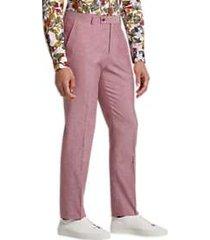 paisley & gray slim fit suit separates pants soft red
