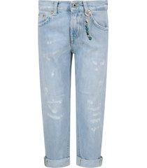 dondup light blue brighton boy jeans with locket