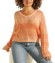 guess ariane v-neck loose-knit sweater