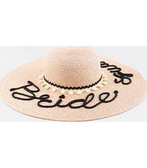 bride squad floppy hat - blush