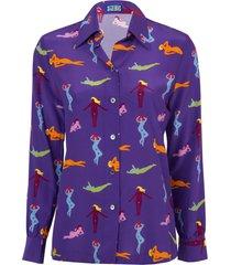 star island blouse beach babes purple