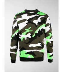 valentino camouflage knit sweater