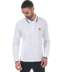 mens long sleeve tipped polo shirt