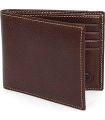 men's torino leather billfold wallet - brown