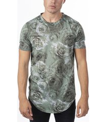 hombres verano casual soft all over print floral t-shirt