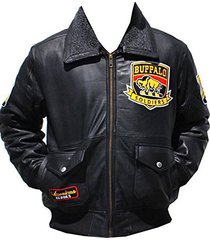 big boy headgear buffalo soldiers mens leather jacket extra large black