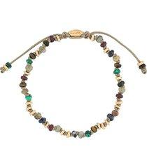 m. cohen the templar beaded bracelet - grey