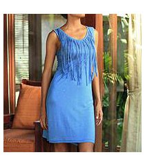 jersey dress, 'blue shimmy' (indonesia)