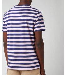 polo ralph lauren men's jersey stripe t-shirt - boathouse navy/garden pink - xxl
