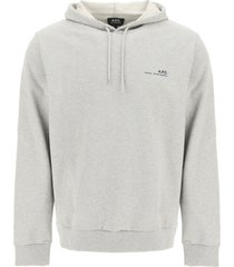 a.p.c. item 001 logo print hoodie