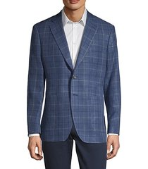classic-fit windowpane check sport jacket