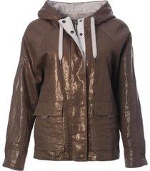 brunello cucinelli cargo pocket detail zip jacket