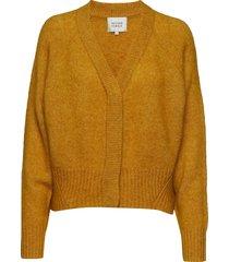 brook knit boxy cardigan gebreide trui cardigan geel second female