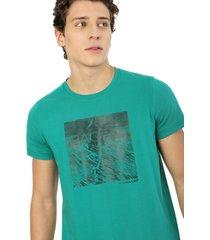 camiseta hombre verde oliva rachid estampada mountain