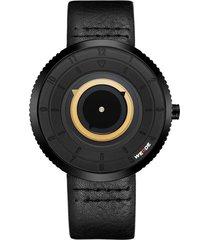 reloj weide wd006b 2c negro amarillo de alta calidad