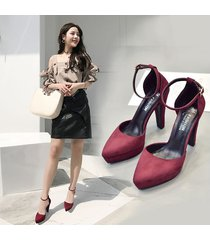 plataforma de moda sandalias tacones para mujeres gruesas con sandalias