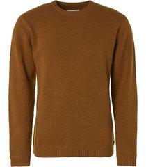 no excess pullover crewneck melange stretch bronze