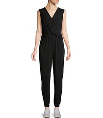 front-knot sleeveless jumpsuit