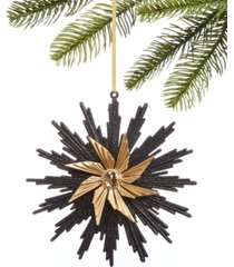 holiday lane black tie snowflake ornament, created for macy's