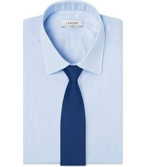 cravatta su misura, reda, pura lana merino blu microdesign, quattro stagioni | lanieri