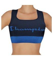 top champion dupla face microfibra l047 - azul marinho - champion