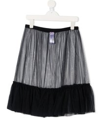 il gufo teen sheer tulle skirt - blue